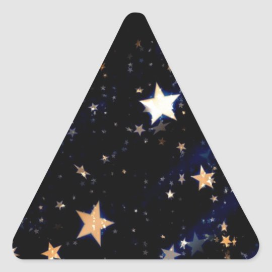 Blue Velvet Effect Stars Triangle Sticker