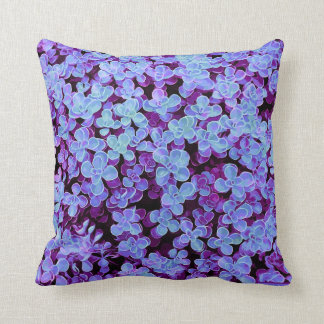 Blue Velvet Hedge - Flower Surface Texture Throw Pillow
