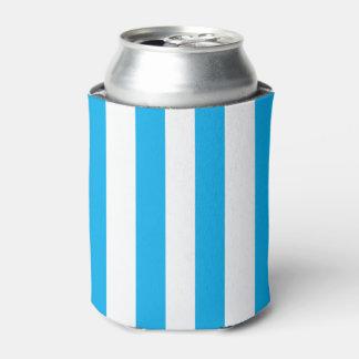 Blue Vertical Stripes Can Cooler