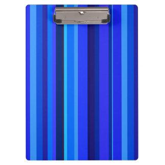 Blue vertical stripes clipboard
