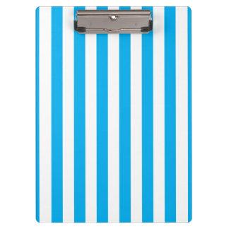 Blue Vertical Stripes Clipboards