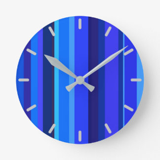 Blue vertical stripes clocks