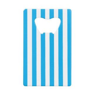 Blue Vertical Stripes Credit Card Bottle Opener