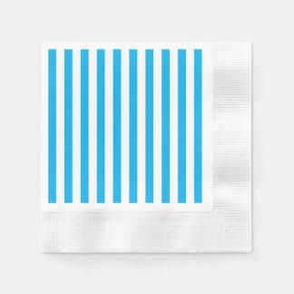 Blue Vertical Stripes Disposable Napkin