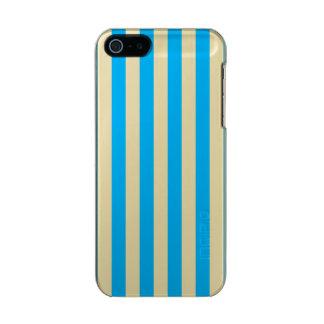 Blue Vertical Stripes Incipio Feather® Shine iPhone 5 Case