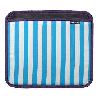 Blue Vertical Stripes iPad Sleeve