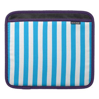 Blue Vertical Stripes iPad Sleeves