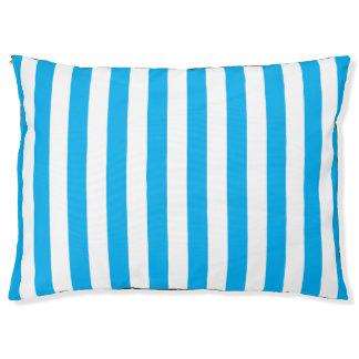 Blue Vertical Stripes Pet Bed