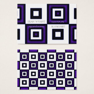 Blue Vertigo Checkerboard Illusion Business Card