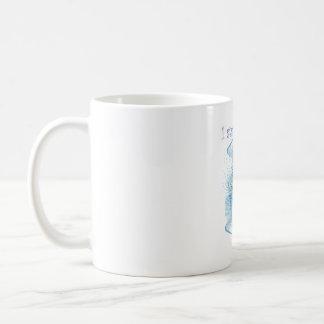 Blue Vibration Abstract Coffee Mug