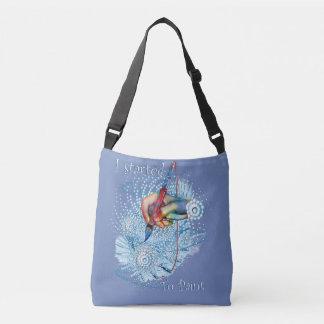 Blue Vibration Abstract Crossbody Bag