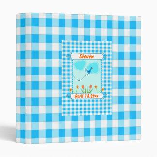 Blue Vichy Baby Photo Album Vinyl Binders