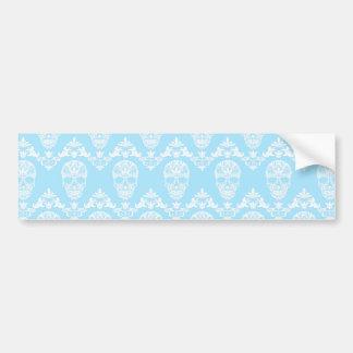 blue victorian skulls bumper sticker