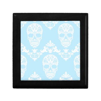 blue victorian skulls gift box