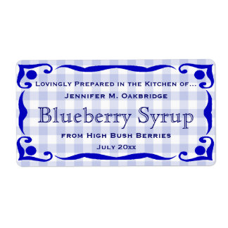 Blue Victorian Style Frame with Gingham Food