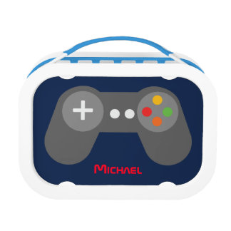 Blue Video Game Controller Lunch Box
