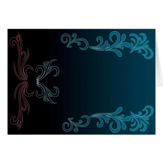 Blue Vines (landscape) Card