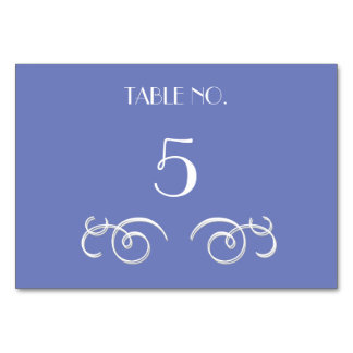 Blue Vines Wedding Table Cards
