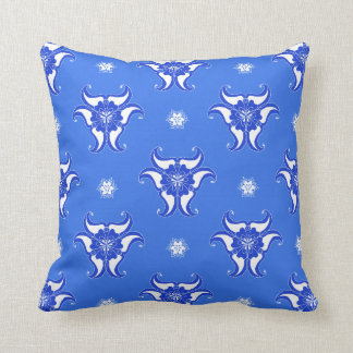 blue vintage abstract pattern design pillow