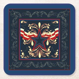 Blue Vintage Americana Coasters