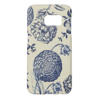 Blue Vintage Botanical Artwork Print Chic Samsung Galaxy S7 Case