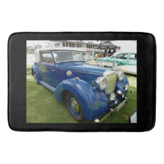 Blue Vintage Car Bathmat