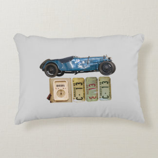 Blue vintage car cushion