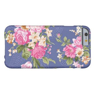 Blue Vintage Floral Barely There iPhone 6 Case