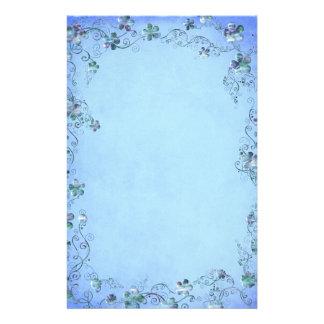 Blue Vintage Floral Wedding Stationery