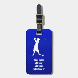 Blue Vintage Golfer Bag Tag