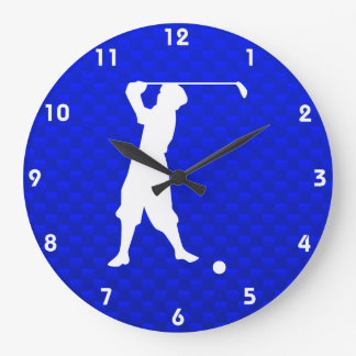 Blue Vintage Golfer Wall Clocks