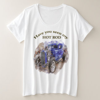 Blue vintage old roadster with the engine out plus size T-Shirt
