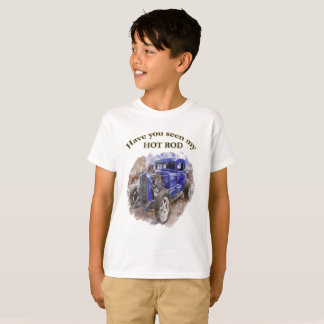 Blue vintage old roadster with the engine out T-Shirt
