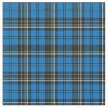 Blue Vintage Plaid Fabric