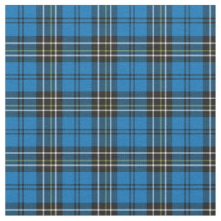 Blue Vintage Plaid Fabric