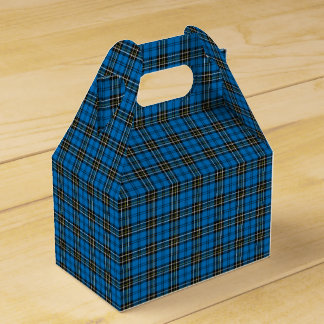 Blue Vintage Plaid Gift Box