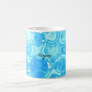 Blue Vintage Retro Glamour Circle Art Swirl Coffee Mug