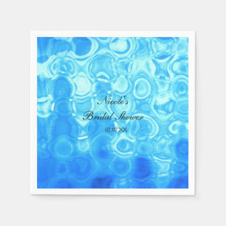 Blue Vintage Retro Glamour Fashion Circle Art Paper Napkins