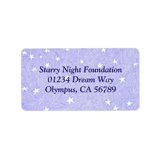 Blue Vintage Stars Etching Custom Address Label