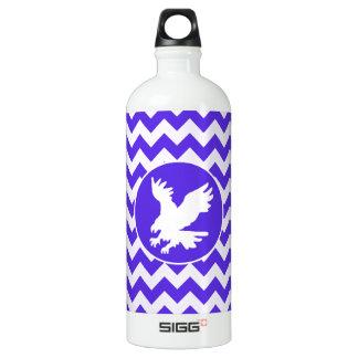 Blue Violet Chevron; Eagle