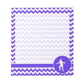 Blue Violet Chevron; Fencing Notepad