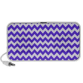 Blue Violet Chevron iPod Speaker