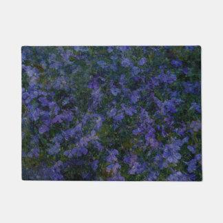 Blue Violet Garden doormat