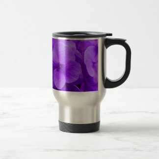 Blue Violet Hydrangea Travel Mug