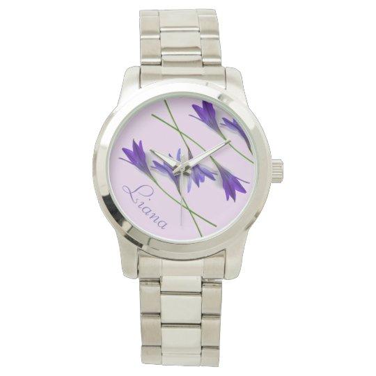 Blue Violet Lavender Lilly Watch
