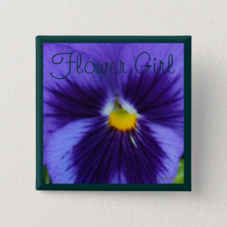 Blue-Violet Pansy 2 Inch Square Button