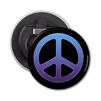Blue Violet Peace Sign Bottle Opener