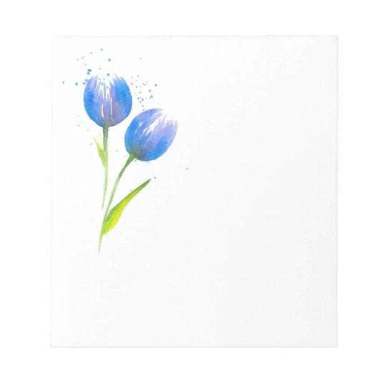 Blue Violet Tulips Notepad