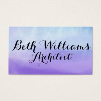 Blue Violet Watercolor Business Cards