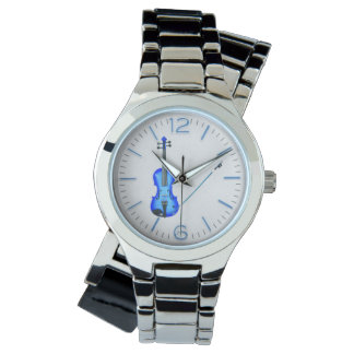 blue violin bracelet watch